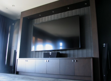 "Sharp 90"" Television installed in Vancouver"