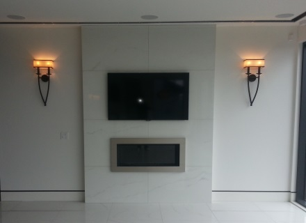 HDTV Installed on a Fireplace in Vancouver BC