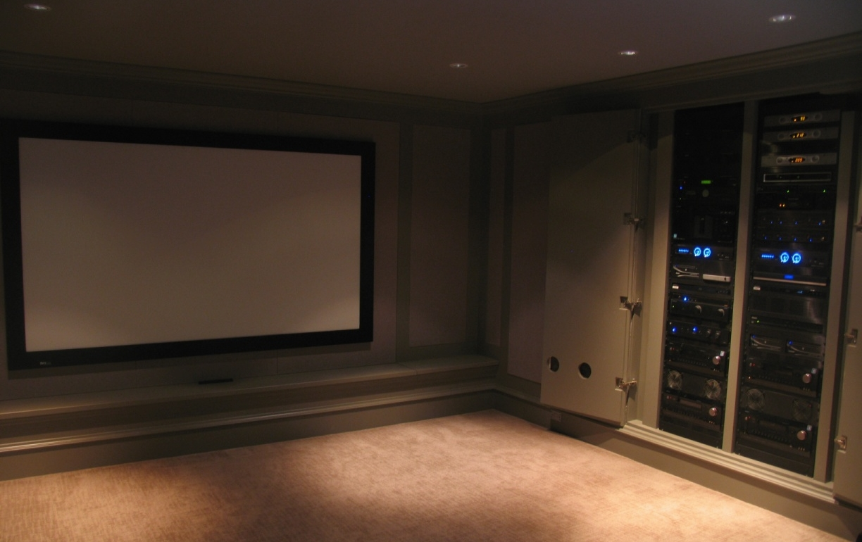 A custom home theatre system installed in Kamloops.